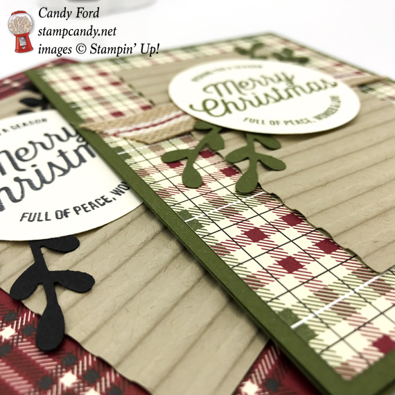 Stampin' Up! Festive Farmhouse handmade card and self close box by Candy Ford of #stampcandy