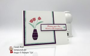 card made using the Varied Vases stamp set and Vase Builder Punch by Stampin