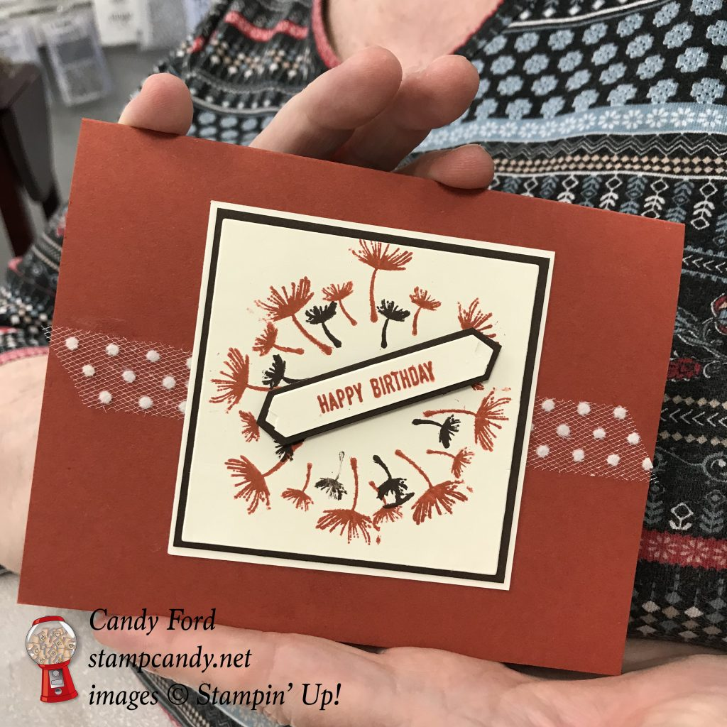 Stamparatus wreath card stamping, Stampin' Up! #stampcandy