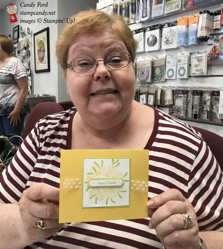 Stamparatus wreath card stamping, Stampin' Up! #stampcandy