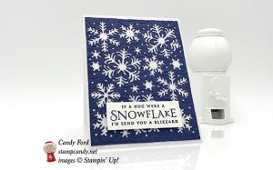 Beautiful Blizzard if a snowflake were a hug card, Stampin