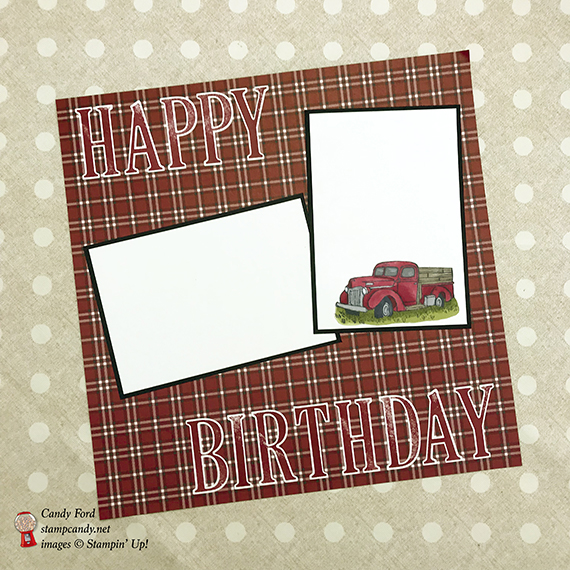 Country Livin', Letters for You, by Stampin' Up! scrapbook page Candy Ford #stampcandy