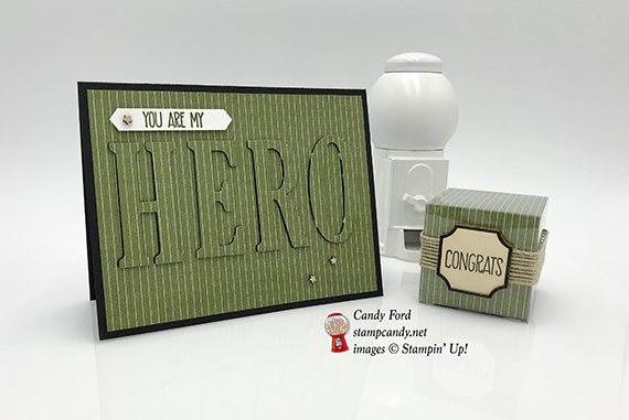 I Need A Hero card for ICS Blog Hop, made with Sunshine Sayings stamp set & Large Letters Framelits Dies by Stampin' Up #stampcandy
