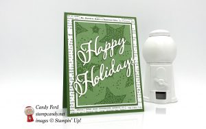 Christmas Holidays card, Dashing Along DSP promotion, Merry Christmas Thinlits Dies, Stampin