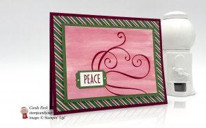 Dashing Along Stylish Christmas card, Stampin