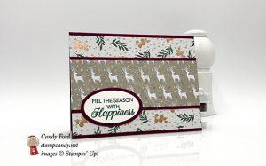 Joyous Noel DSP, Peaceful Noel stamp set, Layering Ovals Framelite Dies, Christmas card, Stampin
