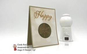 Happy Holidays card made with Merry Christmas to All bundle, All is Bright DSP, snowflakes & stars wire elements, and Layering Cirlces Framelits Dies by Stampin