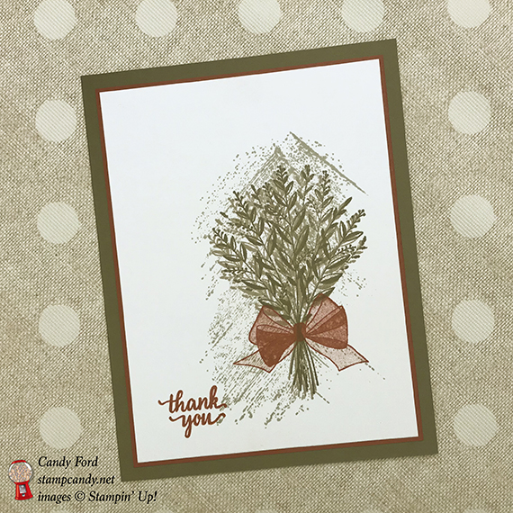 Wishing You Well, Gallery Grunge, Eastern Beauty, by Stampin' Up! thank you card Candy Ford #stampcandy