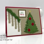 Halloween Christmas party invitation card, In the Woods and Christmas Staircase die sets, Stampin
