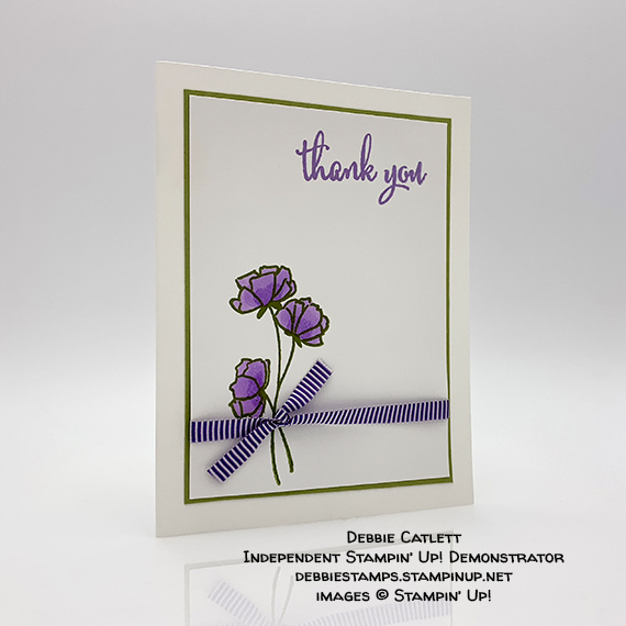 Love What You Do stamp set, thank you card by Debbie Catlett, Stampin' Up! #stampcandy