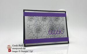 Frights & Delights, September 2018 Paper Pumpkin kit alternative project, Halloween card, Stampin
