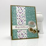 Congratulations card made with First Frost stamp set, Frosted Bouquet dies, Frosted Floral paper by Stampin