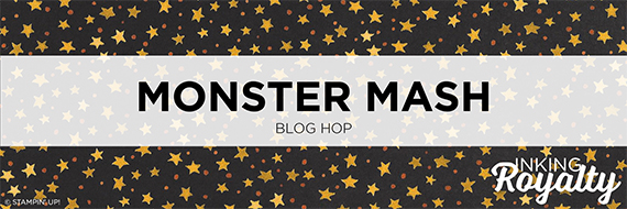inKing Royalty Blog Hop, Octiber 2018, Monster Mash, Halloween #stampcandy
