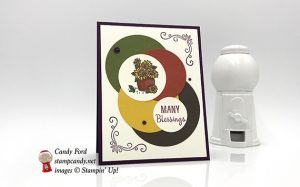 Many Blessings stamp set and Layering Circles Framelits Dies, Faceted Dots, Fall Autumn card, for ICS Blog Hop, Stampin