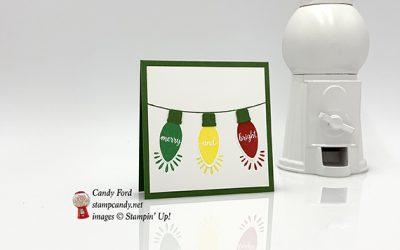 Making Christmas Bright Mini Card