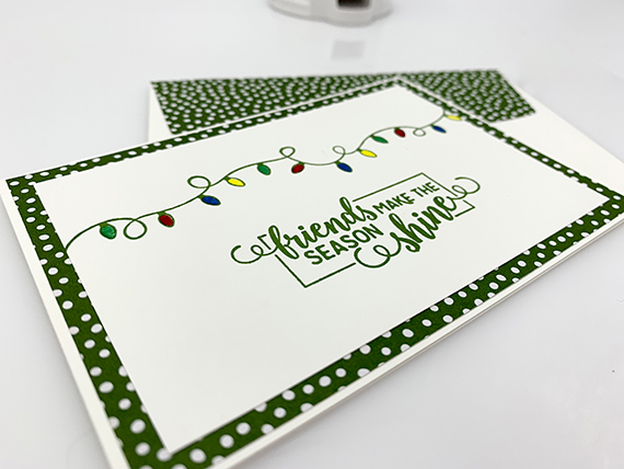 Christas season card made with Making Christmas Bright stamp set by Stampin' Up! #stampcandy