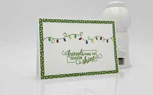 Christas season card made with Making Christmas Bright stamp set by Stampin