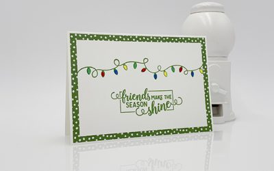 Friends Making Christmas Bright Note Card & Envelope
