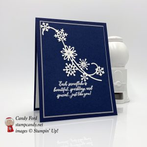 Snowflake Showcase winter or Christmas card, Stampin' Up! #stampcandy