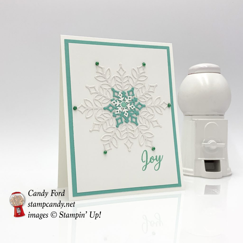Snowflake Showcase Joy Christmas Card, Stampin' Up! #stampcandy