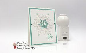 Snowflake Showcase Joy Christmas Card, Stampin