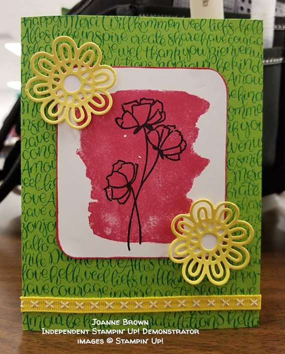 card made by Joanne Brown of the Candy Hearts team of Stampin' Up! Demonstrators #stampcandy