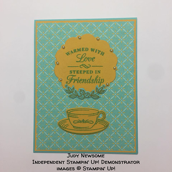 card made by Judy Newsome of the Candy Hearts team of Stampin' Up! Demonstrators #stampcandy