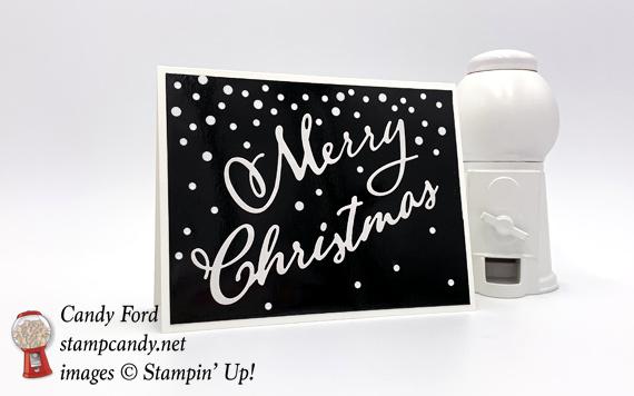 Black & White Merry Christmas Card