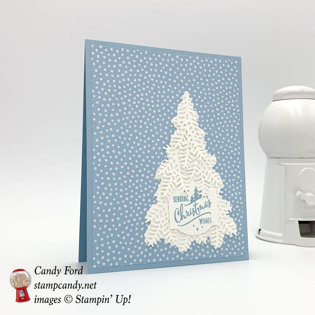 Christmas Staircase Thinlits Dies, Christmas Traditions Punch Box, and Subtles 6x6 Designer Series Paper, by Stampin' Up! #stampcandy