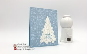 Christmas Staircase Thinlits Dies, Christmas Traditions Punch Box, and Subtles 6x6 Designer Series Paper, by Stampin
