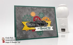 Geared Up Garage bundle, Classic Garage paper, male birthday card, Stampin