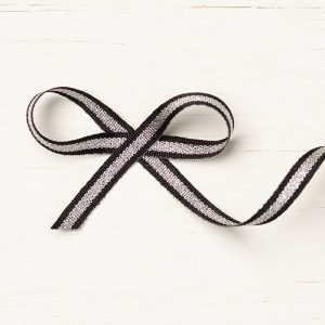 Black/Silver Striped Metallic Ribbon © Stampin' Up!