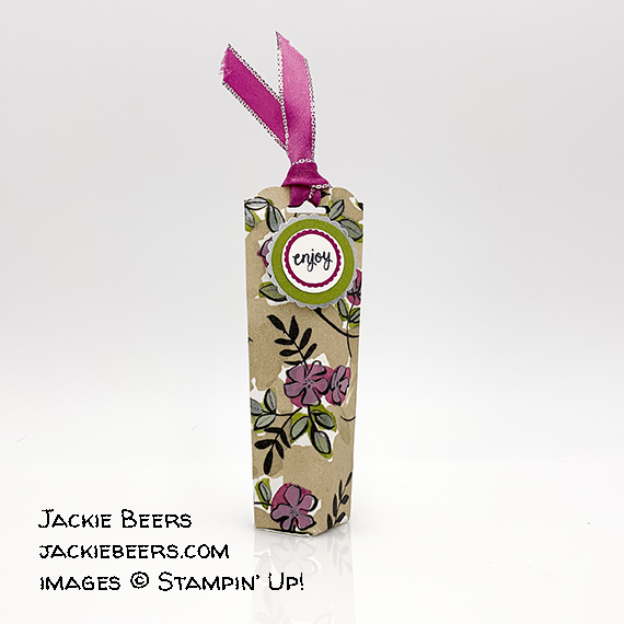 treat holder made by Jackie Beers, Stampin' Up!