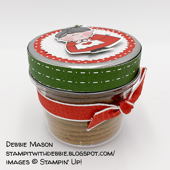 cookie jar made by Debbie Mason, Stampin' Up!
