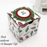 Stitched Labelsand Layering Circles Framelits Dies, All is Bright paper, Clear Tiny Treat Box, Christmas gift box, Stampin