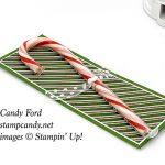 Flourish Filigree, Burlap, Dashing Along candy cane holder, Stampin