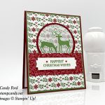 Dashing Deer Bundle Christmas Card made by #stampcandy, Stampin