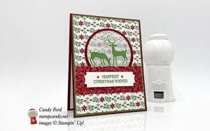 Dashing Deer Bundle Christmas Card made by #stampcandy, Stampin