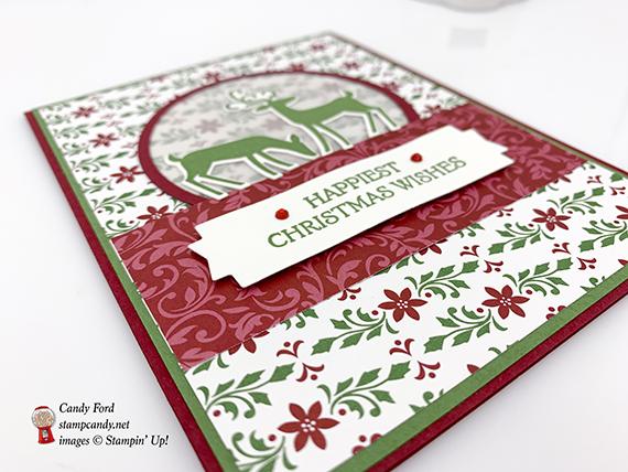 Dashing Deer Bundle Christmas Card made by #stampcandy, Stampin' Up!