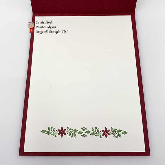 Dashing Deer Bundle Christmas Card made by #stampcandy, Stampin' Up!