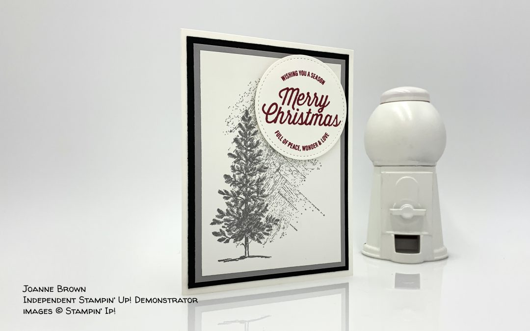 Gallery Grunge Merry Christmas Card by Joanne Brown