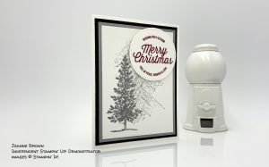 Merry Christmas card made by Joanne Brown, Independent Stampin