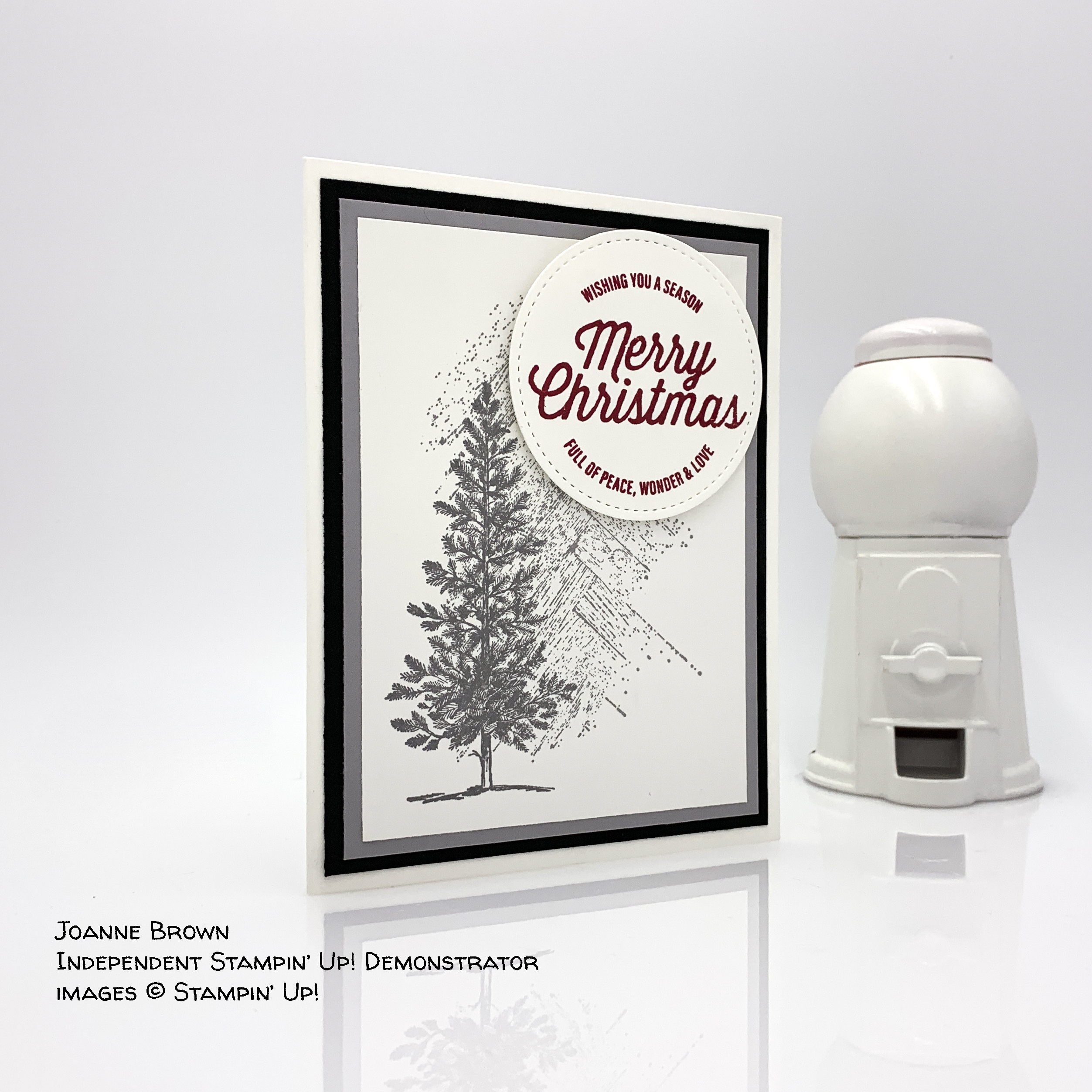 Merry Christmas card made by Joanne Brown, Independent Stampin' Up! Demonstrator #stampcandy