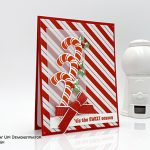 Christmas card made by Judy Newsome using the Candy Cane Season bundle and Santa