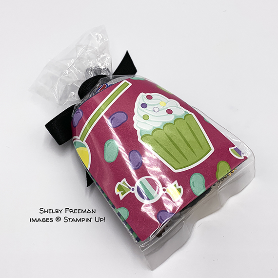 treat holder made by Shelby Freeman, Stampin' Up!