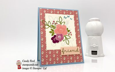 Friend Card in Needlepoint