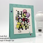Candy Ford made this card using the Birthday Statements stamp set and Tufted embossing folder by Stampin