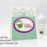 Birthday Cheer bundle, Detailed Birthday Edgelits Dies, How Sweet It Is paper, Layering Ovals Framelits Dies, Stampin