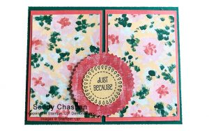 card made by Sandy Chastain of the Candy Hearts team of Stampin