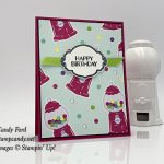Sweetest Thing stamp set, Jar of Sweets Framelits Dies, How Sweet It Is paper, reversible ribbon, from Stampin